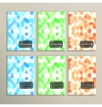 Set simple abstract background of colored squares vector image vector image