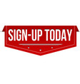 sign-up today banner design vector image vector image