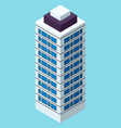 skyscraper building in city space in flat style vector image vector image