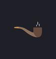 smoky pipe computer symbol vector image vector image