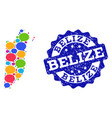 social network map of belize with message clouds vector image