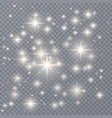 sparks glitter special light effect sparkles on vector image vector image