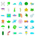 splash icons set cartoon style vector image vector image