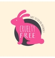 Stop cruelty eco-friendly badges vector image