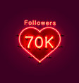 thank you followers peoples 70k online social vector image vector image
