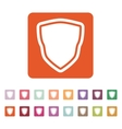 The shield icon Shield symbol Flat vector image vector image