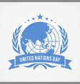 United nation day banner in flat style