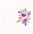 watercolor flower decoration with text space area vector image vector image