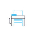 workplace thin line stroke icon workplace vector image
