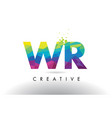 wr w r colorful letter origami triangles design vector image vector image