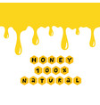 Yellow drips on white background paint or honey
