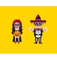 Goddess Katrina with Dead Mexican character for vector image