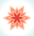 Icon logo flower beauty vector image
