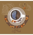 with the image of a cup of coffe vector image