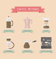 17allcoffeemethod vector image vector image