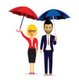 a couple of umbrellas vector image vector image