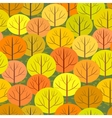 abstract autumn forest seamless background vector image