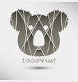 abstract logo with koala modern style logotype vector image