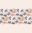 abstract sketch floral hipster seamless pattern vector image vector image