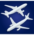 Airplane icon Flat 3d isometric high quality vector image vector image