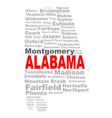 alabama state word cloud vector image