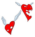angry heart cartoon vector image