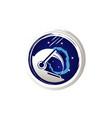 astronaut space logo symbol vector image