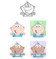 Baby Boy With Open Arms Collection vector image vector image