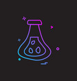 beaker flask icon design vector image