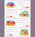big summer sale up to 30 internet promo pages vector image