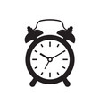 black alarm clock icon isolated on white vector image vector image