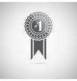 black award icon vector image vector image