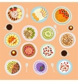 Breakfast cereal porridge vector image vector image