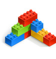 brick wall meccano toy vector image vector image