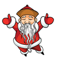 cartoon Chinese Santa Claus standing with his arms vector image vector image