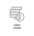 cashcoins line icon cashcoins outline vector image vector image