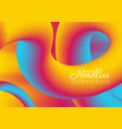 colorful gradient 3d wavy liquid shapes background vector image