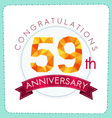 colorful polygonal anniversary logo 3 059 vector image vector image