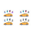 completeness car passengers vector image