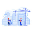 concept surveyors at construction site vector image