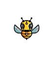 creative bee robot symbol logo vector image vector image
