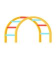 curved ladder for kids playground on white vector image