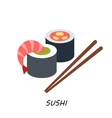Delicious Sushi Set food icons Japanese food vector image vector image