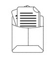 dotted shape file folder with business document vector image