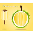 durian ice cream design for poster and vector image vector image