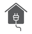 electricity home glyph icon real estate and home vector image