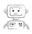 electronic robot character icon vector image