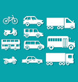 flat cars concept set icon backgrounds vector image