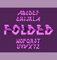 folded paper alphabet paper ribbon vector image vector image