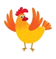 Funny cartoon chicken hen surprised or jumping vector image vector image